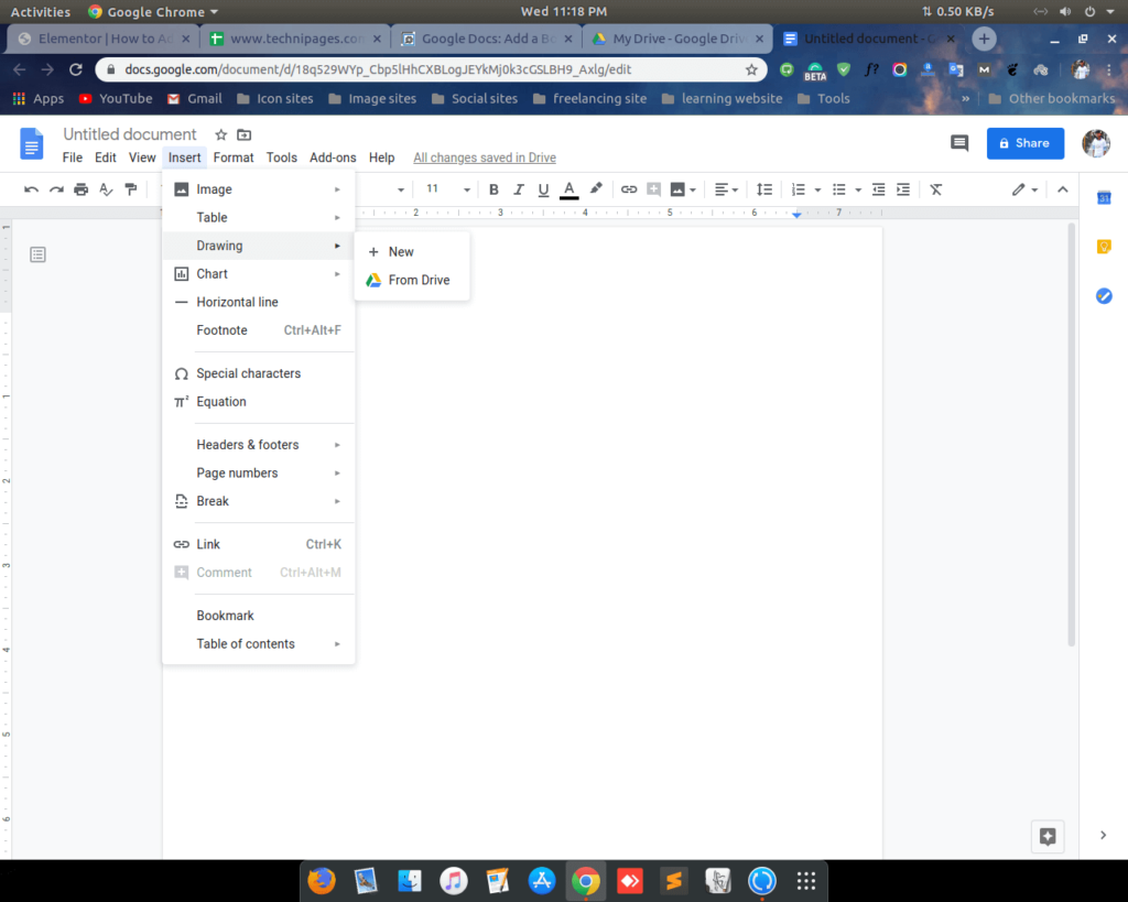 Add border on google docs by shape 1 shoukhintech
