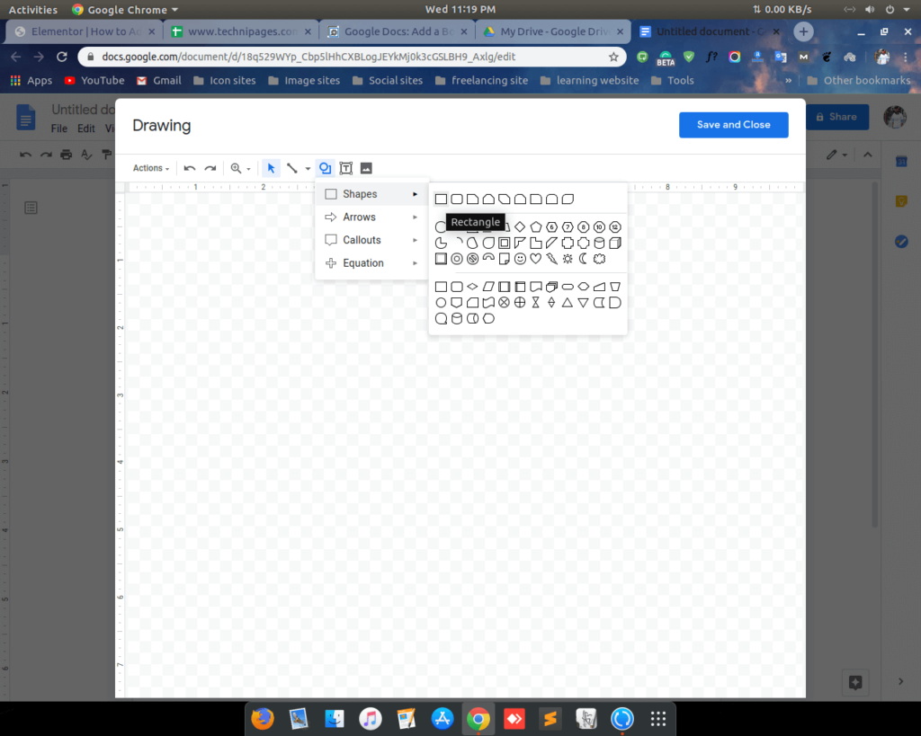 Add border on google docs by shape 2 shoukhintech