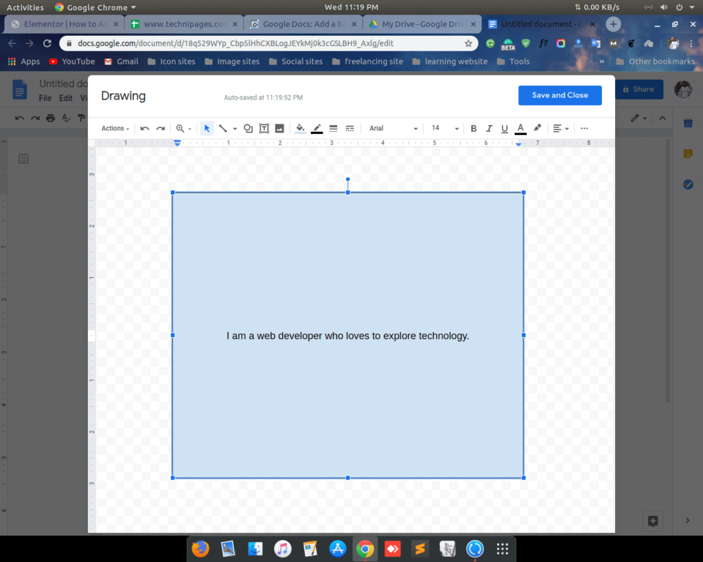 Add border on google docs by shape 3 shoukhintech