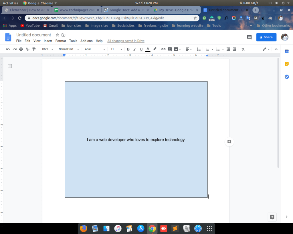 Add border on google docs by shape 4 shoukhintech