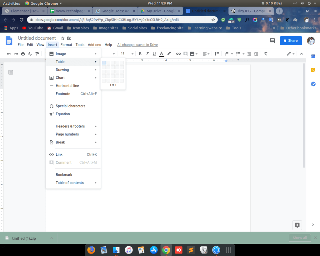 Add border on google docs by table 2 shoukhintech