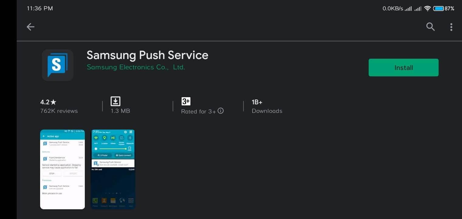 What is Samsung Push Service shoukhintech