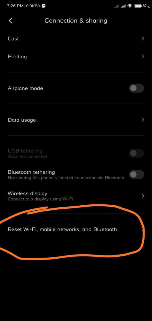 Android Network Reset shoukhintech 2