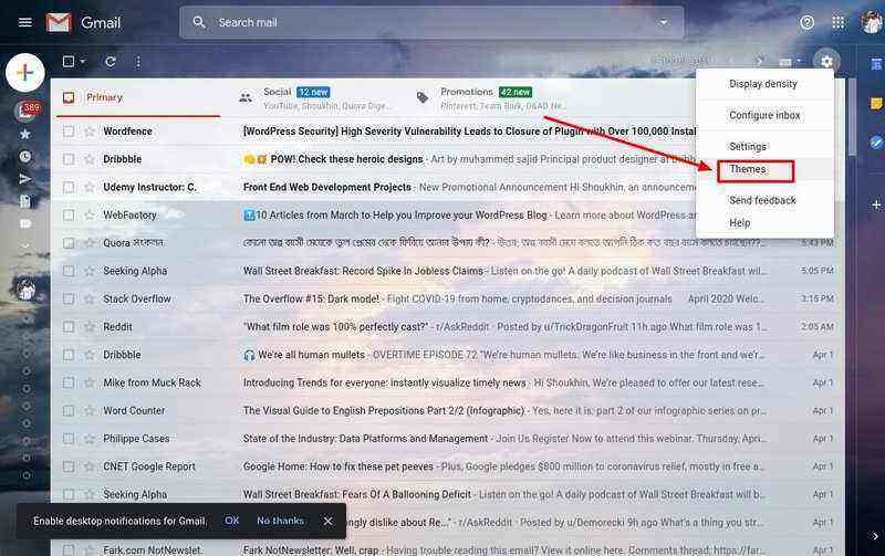 How to change background image in gmail shoukhintech