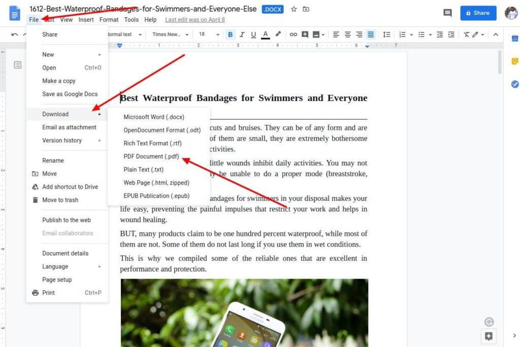 Save google docs as PDF PC shoukhintech (1)