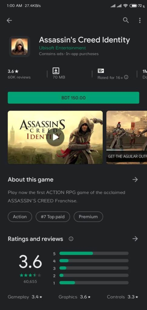 assassins creed shoukhintech android games paid