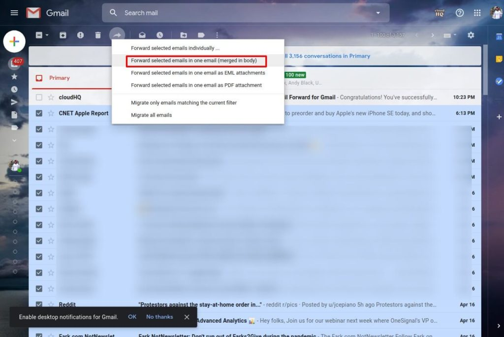 forward multiple emails in gmail shoukhintech