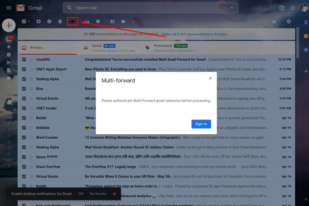 forward multiple emails in gmail shoukhintech 2