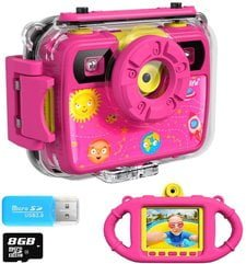 Ourlife Kids Camera, Selfie Waterproof Action Child Cameras