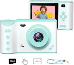 ieGeek Kids Digital Camera, 2.8 Inches Front and Rear Dual Camera 8.0MP