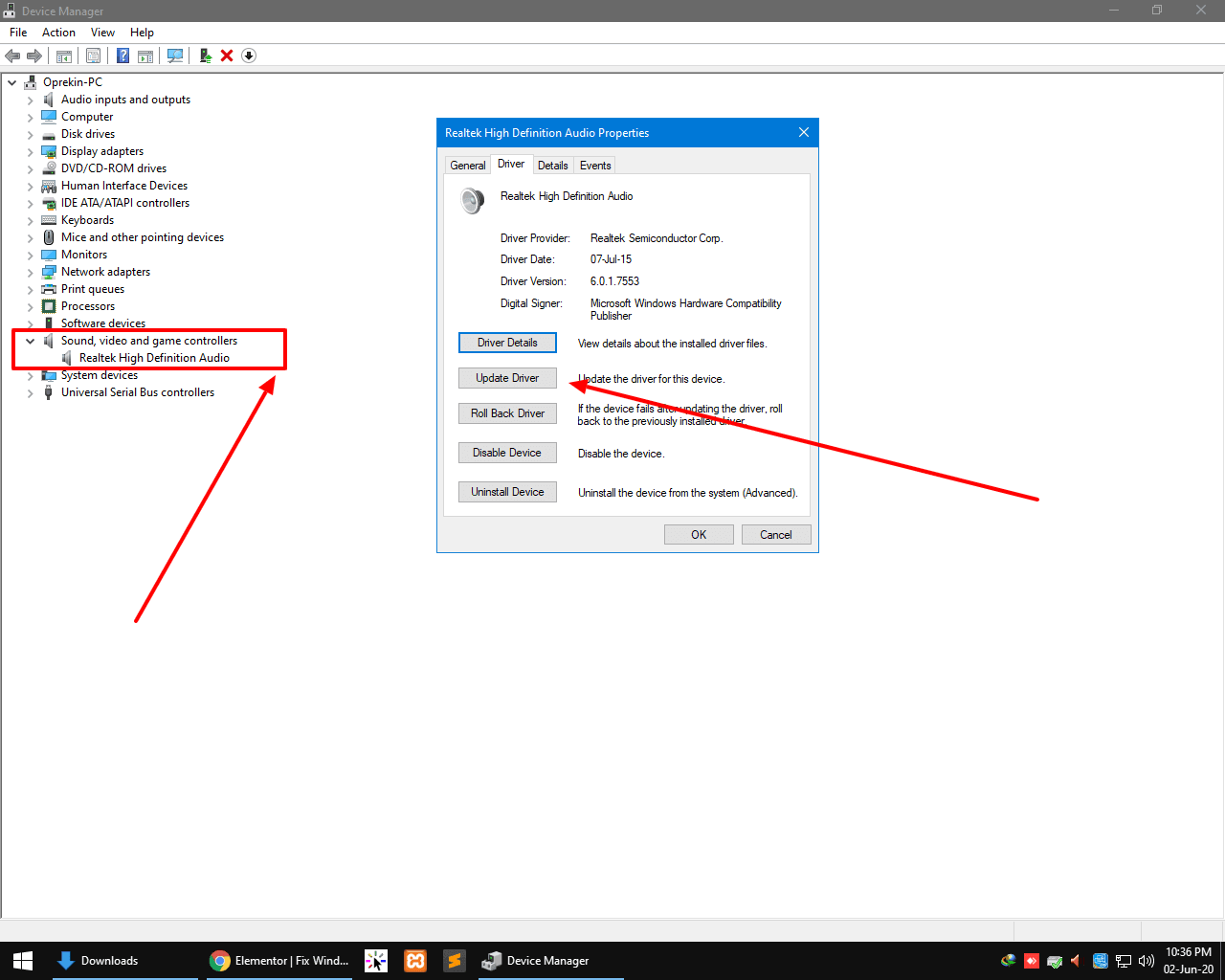 Update sound driver windows 10 (1)