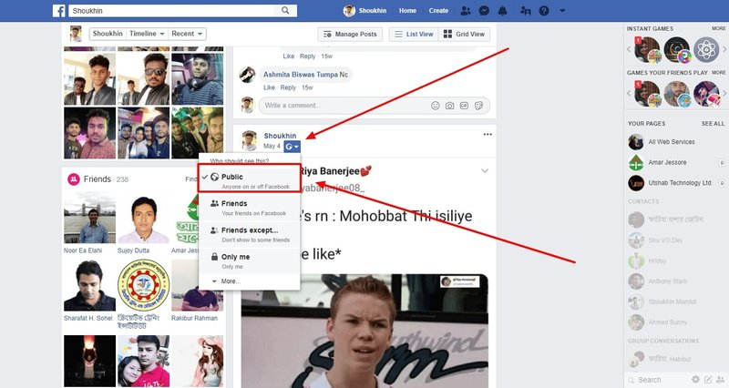 facebook profile share button enable