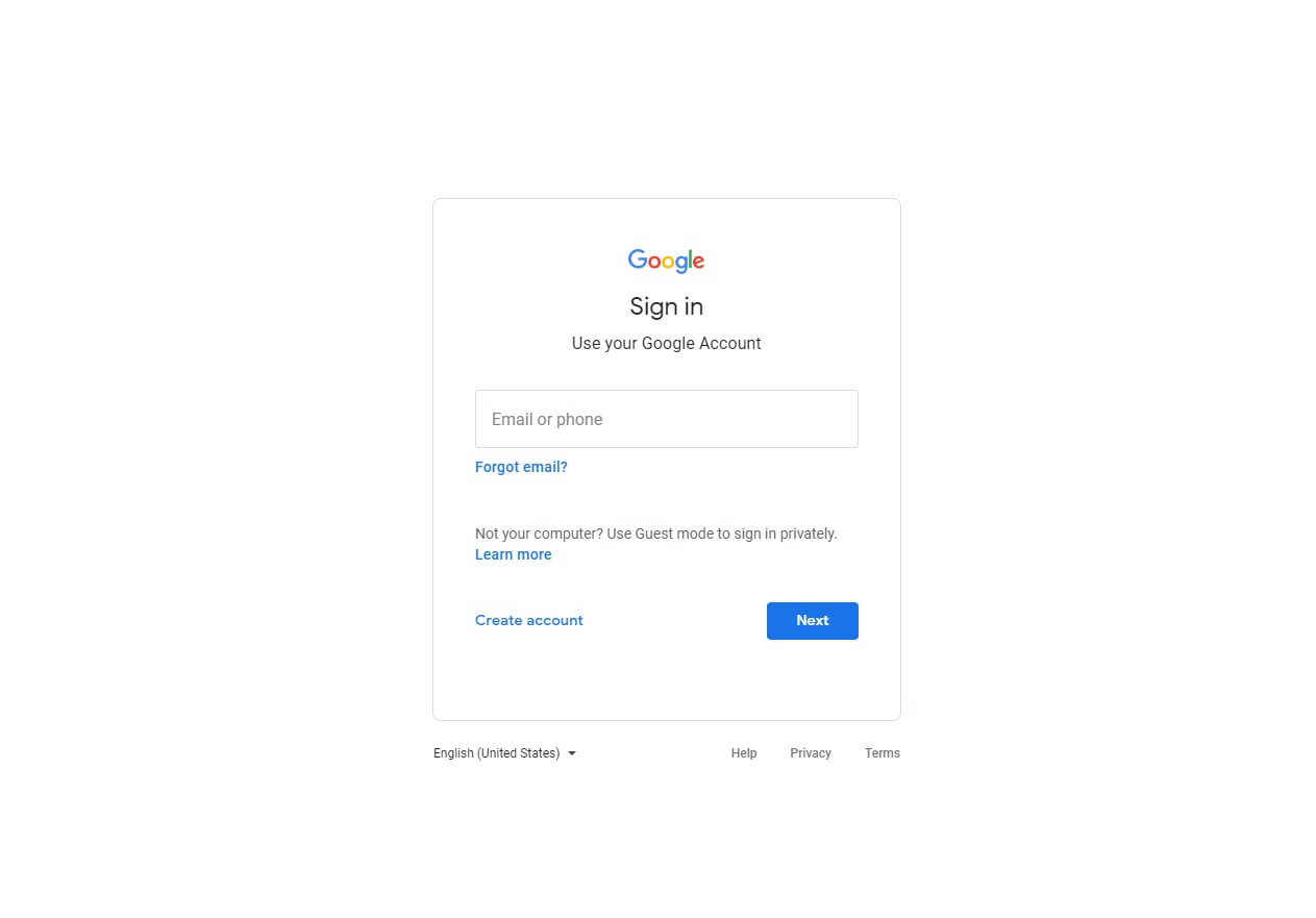 google sign in shoukhintech